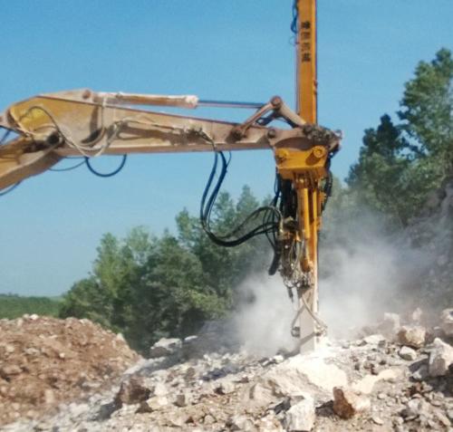 挖改切削钻机案例